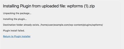 Cara Memperbaiki Folder Tujuan Sudah Ada (Kesalahan di WordPress)