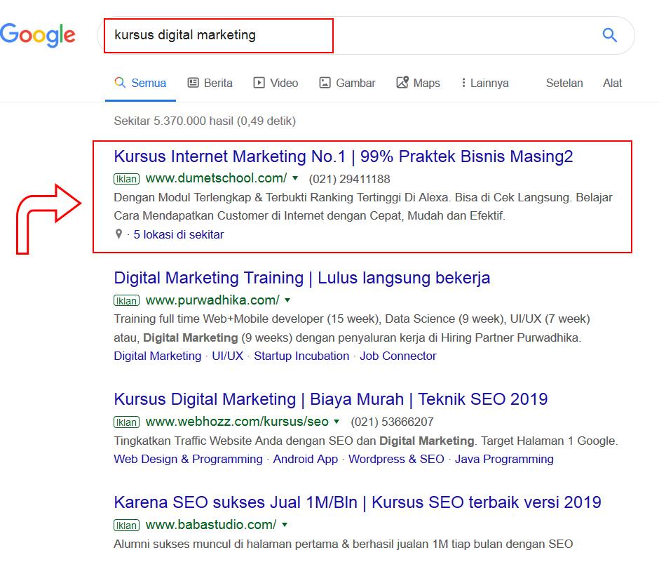 google ads iklan